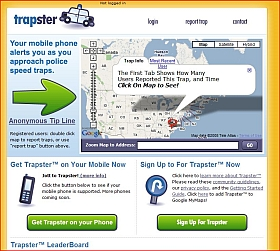 Trapster website screenshot